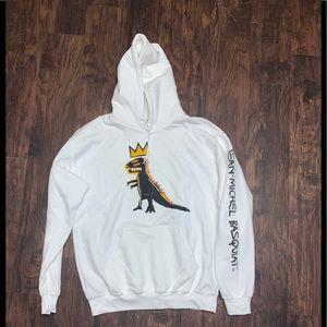 Brand new white sweatshirt with Artist design